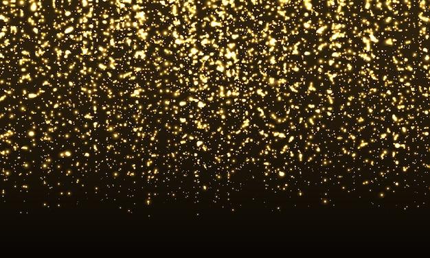 Funkelnder hintergrund. gold glitter konfetti.