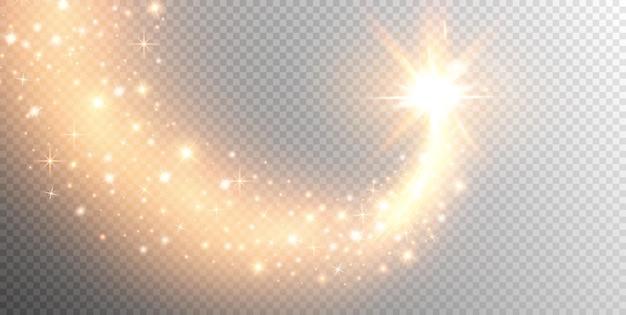 Funkelnder sternschnuppen-sternsternpfad