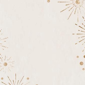 Funkelndes feuerwerk beige hintergrund neujahrsfeier