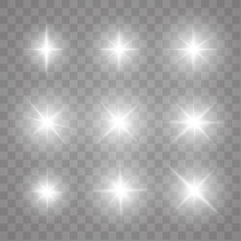 Funken, leuchtende sterne.