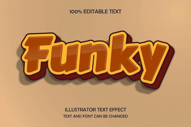 Funky, bearbeitbarer texteffekt moderner schattenfarbholzstil