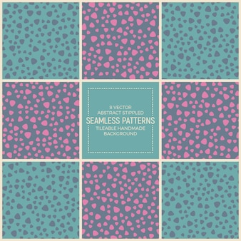 Funky retro seamless patterns vector set