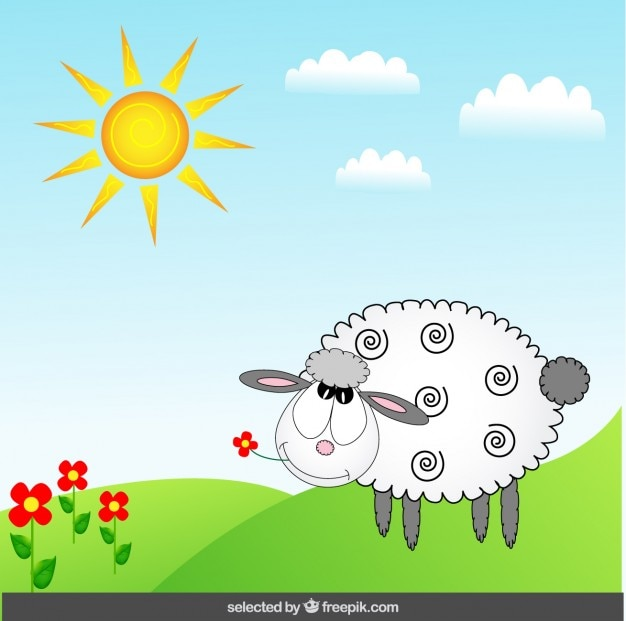 Funny sheep illustration