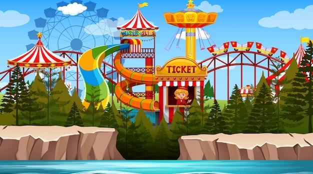 Funpark-szene im freien leer
