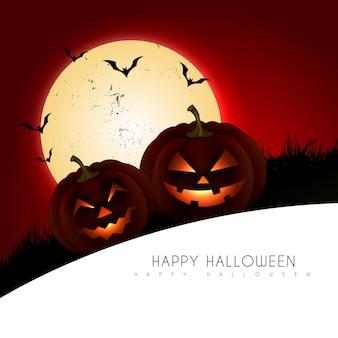 Furchterregende halloween-hintergrundillustration