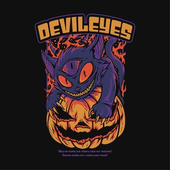 Furchterregende halloween-themenillustration