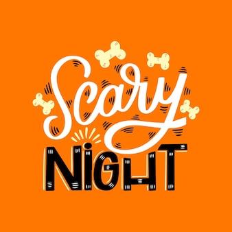 Furchterregende nachtbeschriftung