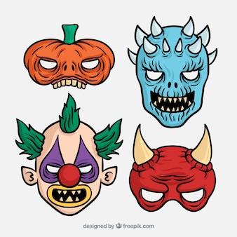 Furchtsame masken für halloween