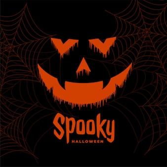 Furchtsamer glücklicher halloween-geistgesichtshintergrund