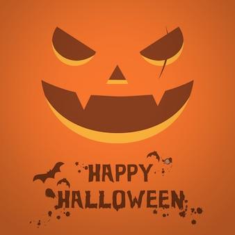 Furchtsamer kürbisgesicht halloween-plakatschablonenhintergrund