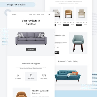Furniture sale mini web landing page