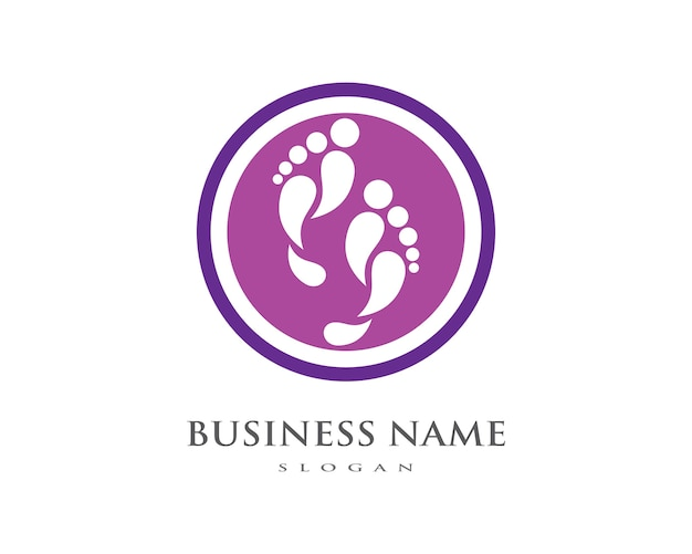 Fuß logo vorlage