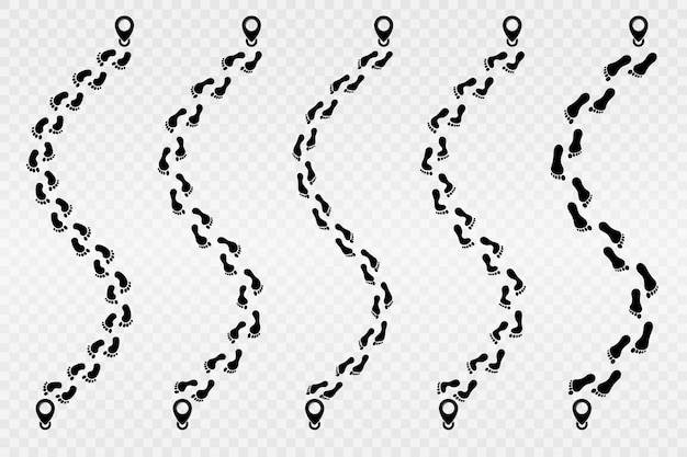 Fußabdruck-vektor-symbol. spuren des menschlichen fußabdrucks. schritte. spur des menschlichen fußabdrucks.
