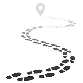 Fußabdruckspur