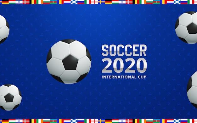 Fußball 2020 weltmeisterschafts-cuphintergrundfußball.