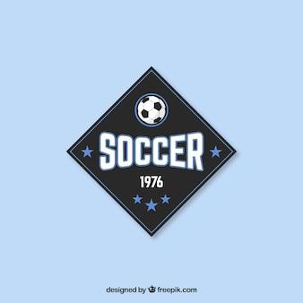 Fußball abzeichen im vintage-stil