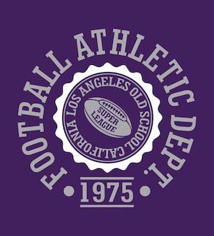 Fußball-athletische abteilungs-t-shirt-vektorgraphik