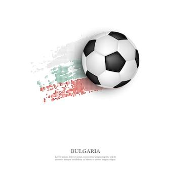 Fußball auf bulgarischer flagge.