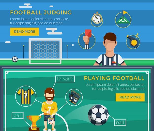 Fußball-banner-set