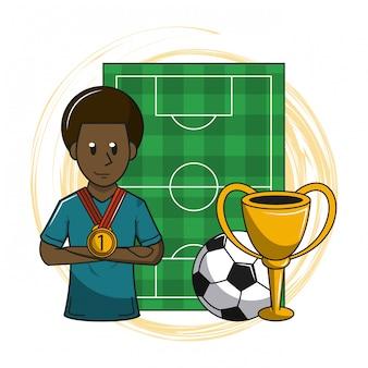 Fußball Cartoon Elemente