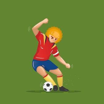 Fußball cartoon geschicklichkeit