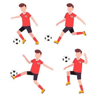 Fußball charakter flache abbildung