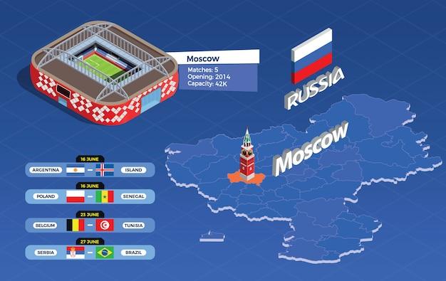 Fußball cup infografik illustration