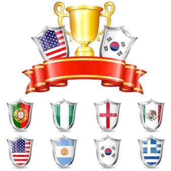 Fußball cup set