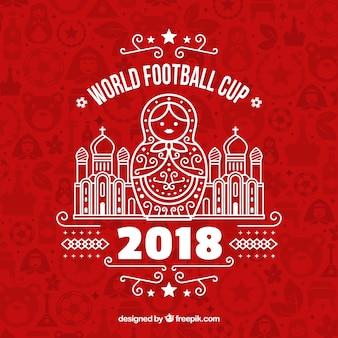 Fußball-Cuphintergrund des Fußballs 2018
