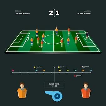 Fußball-design-elemente