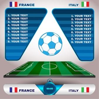 Fußball-elemente-sammlung