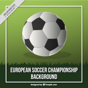 Fußball-europameisterschaft hintergrund mit einer kugel