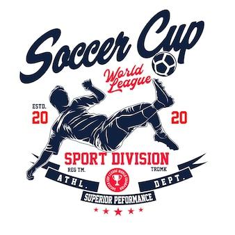 Fußball fahrrad kick t-shirt illustration in flachem design