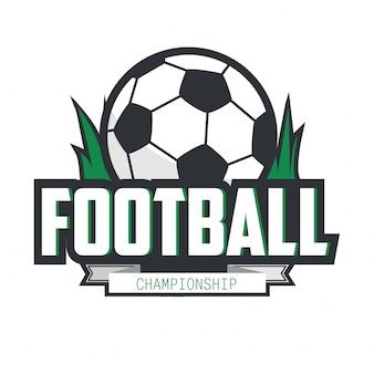 Fußball-fußball-abzeichen logo design template.