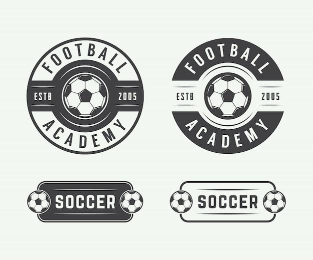 Fußball-fußball-logo, emblem, abzeichen.