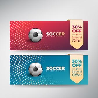 Fußball-fußball-meisterschaft-präsentation-flyer