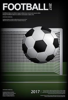 Fußball-fußball-plakat-illustration