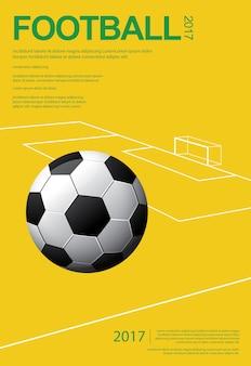 Fußball-fußball-plakat vestor illustration