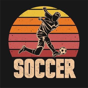 Fußball-fußball-spieler in aktion isoliert
