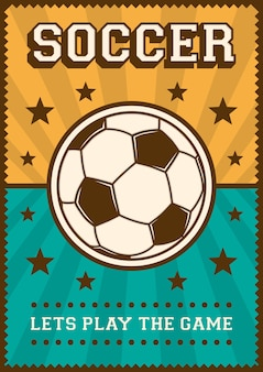 Fußball-fußball-sport-retro pop-art-plakat signage