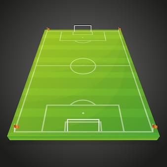Fußball-fußball-sportplatz-leeres design