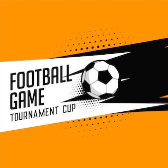 Fußball-Fußball-Turnier Spiel Vektor Hintergrund