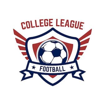 Fußball, fußballembleme. gestaltungselement für logo, etikett, emblem, zeichen.