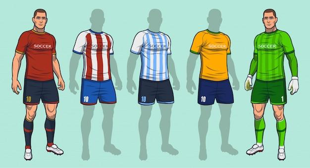 Fußball- / fußballuniform