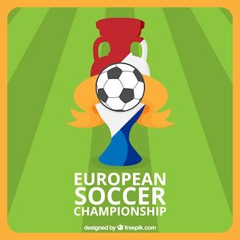 Fußball hintergrund der europäischen meisterschaft
