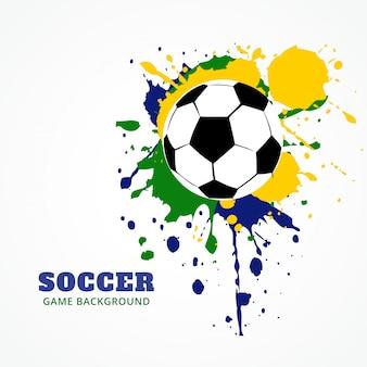 Fußball im grunge-stil