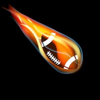 Fußball in flammen