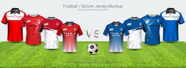Fußball jersey mock-up-vorlage