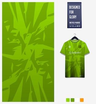 Fußball-jersey-stoff-muster-design abstraktes muster auf grünem hintergrund