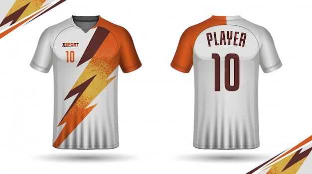 Fußball jersey vorlage-sport t-shirt design